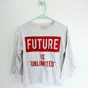 [ ZARA future is unlimited kids sweatshirt ]